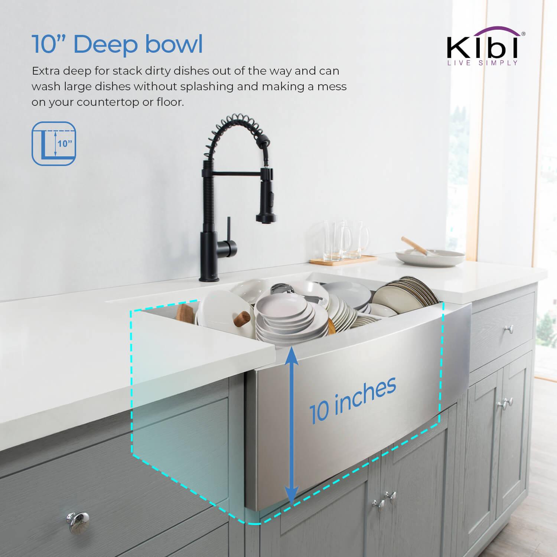 33 Handcrafted Farmhouse Apron Double Bowl Stainless Steel Kitchen Sink K1 Df33 Kibi Usa