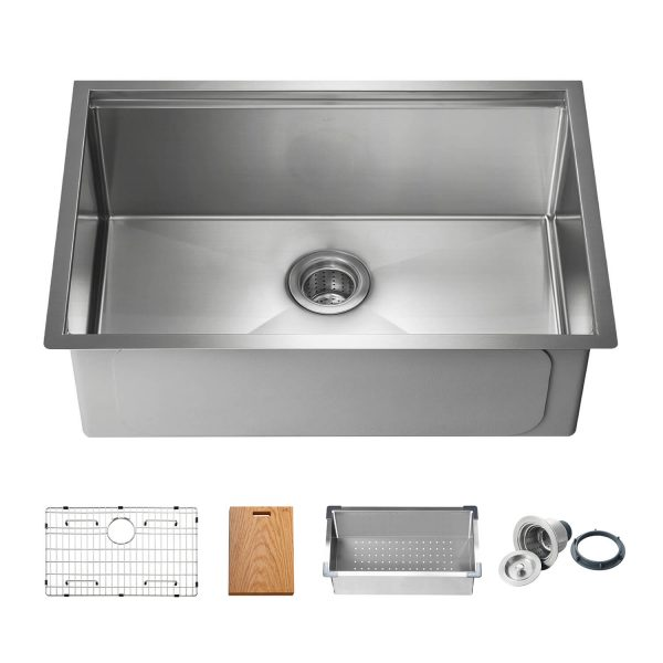 Single Bowl Stainless Steel Workstation Sink
