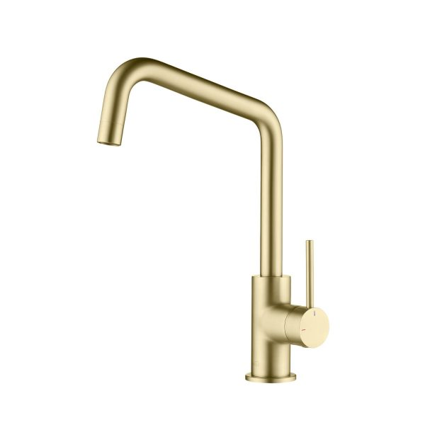 Luxe Single Handle High Arc Pull Down Kitchen Faucet